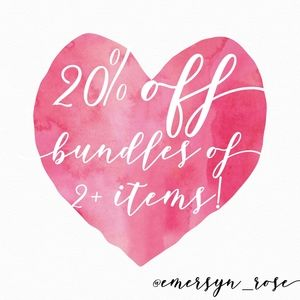 20% off Bundles Everday! 🎉